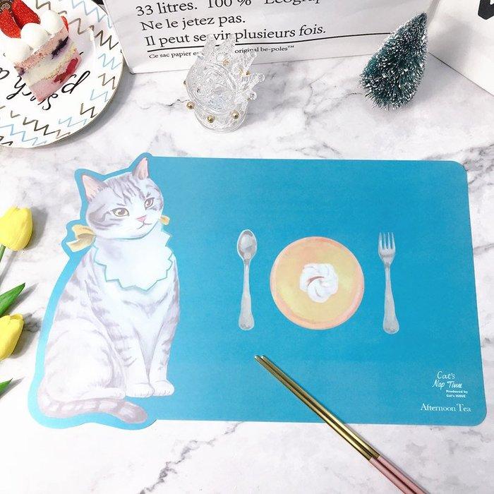 歐式裝飾 出口日本afternoon tea Cat's NapTime卡通貓貓pp餐墊桌墊包郵星期八 貨到付款