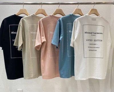 R45-Memento Minimal 休閒短袖T恤(黑.白.杏.藍.粉)-正韓-Mena韓國男裝服飾