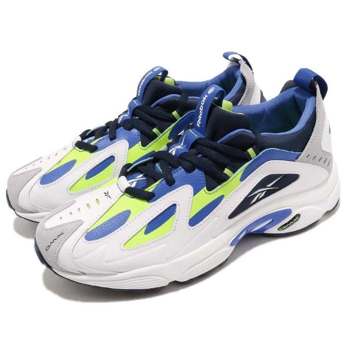 =CodE= REEBOK DMX SERIES 1200 復古皮革慢跑鞋(白藍綠) CN7119 活氣墊 老爹鞋 男女