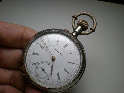 圓如玉文物------Rabbits   head瑞士老銀印記1890年代瓷面壓花殼懷表