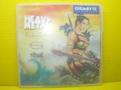 ▀ 博流挖寶館 ▀ 光碟遊戲 heavy metal f.a.k.k gigabyte