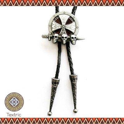【Textric】保羅領帶 Bolo Tie 骷髏 殺戮 復古風格 項鍊 襯衫 中性 李鍾碩 N311