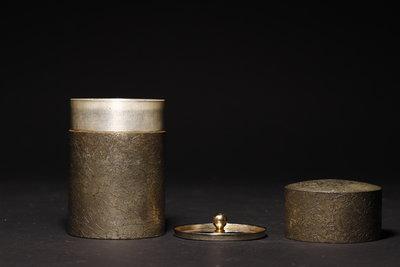 12/2結標 薩摩錫茶葉罐 111422─花道具 花入 家飾 禪修 和室 日本茶具 收納 日式餐具 園藝 鉄壺 貔貅