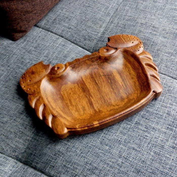 重竹螃蟹零食盤瓜子花生碟果盤干果盤餐館酒店托盤小物收納盤