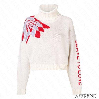 【WEEKEND】 EACH X OTHER 針織 高領 長袖 上衣 毛衣 白色 紅色 18秋冬