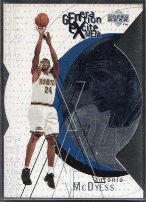 96-97 UPPER DECK GENERATION EXCITEMENT #G4 ANTONIO McDYESS