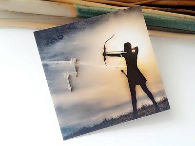 【小麼雜貨】歐美銀色迷你弓箭 箭頭 耳環 耳針(現貨)A070(1)6/ 8
