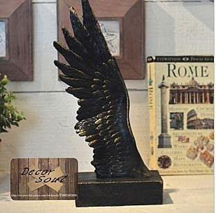 DS北歐家飾§ loft工業風 黑天使翅膀 擺件裝飾擺飾羅馬歐洲美式鄉村設計航海復古仿舊ZAKKA