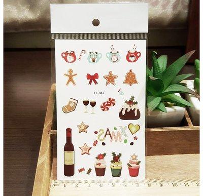 【萌古屋】甜點的聖誕節 - 男女防水紋身貼紙刺青貼紙EC-842 K12
