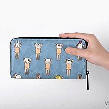 【V5112】Kiitos 趣味 皮革 長款 錢包 皮夾 長夾 塗鴉印花ET外星人怪獸女孩人物 文創 情人節 禮物 交換