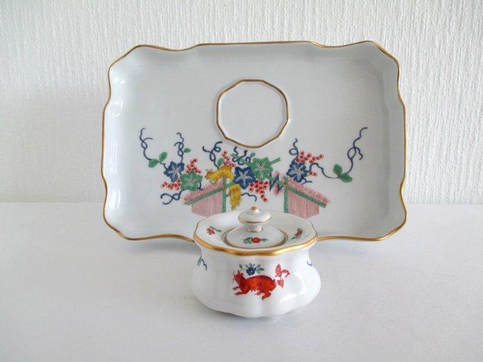 德國名瓷麥森Meissen 日本風格 柿右衛門 盤及蓋盒組 一級典藏品 歡迎提問詢價
