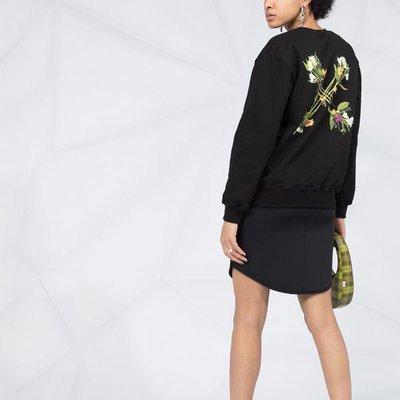 Off-White flock Arrows logo sweatshirt 女花卉箭頭印花衛衣 限時折扣代購中