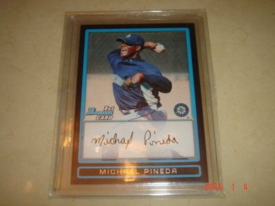 美國職棒 Yankees Michael Pineda 09 Bowman Prospects  新人卡 球員卡