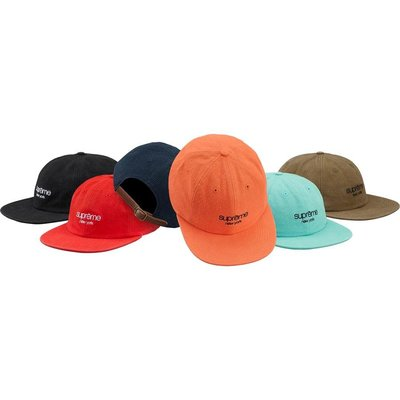 【紐約范特西】預購 Supreme Napped Canvas Classic Logo 6-Panel 帆布帽 6色