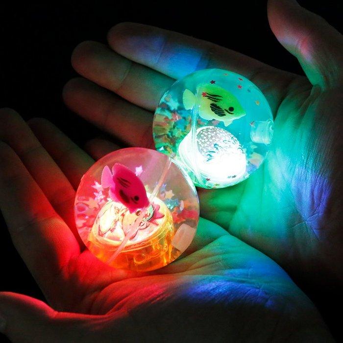 創意日用家居!!!兒童彈力球實心橡膠球創意寶寶跳跳球玩具小男孩發光彈性球閃光球