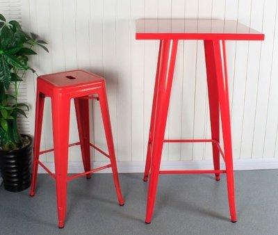 【南洋風休閒傢俱】吧檯桌系列 –曼尼鐵烤漆板吧桌 工業風吧檯桌 復古美式鐵藝復刻吧桌(鐵面款) (523-3)