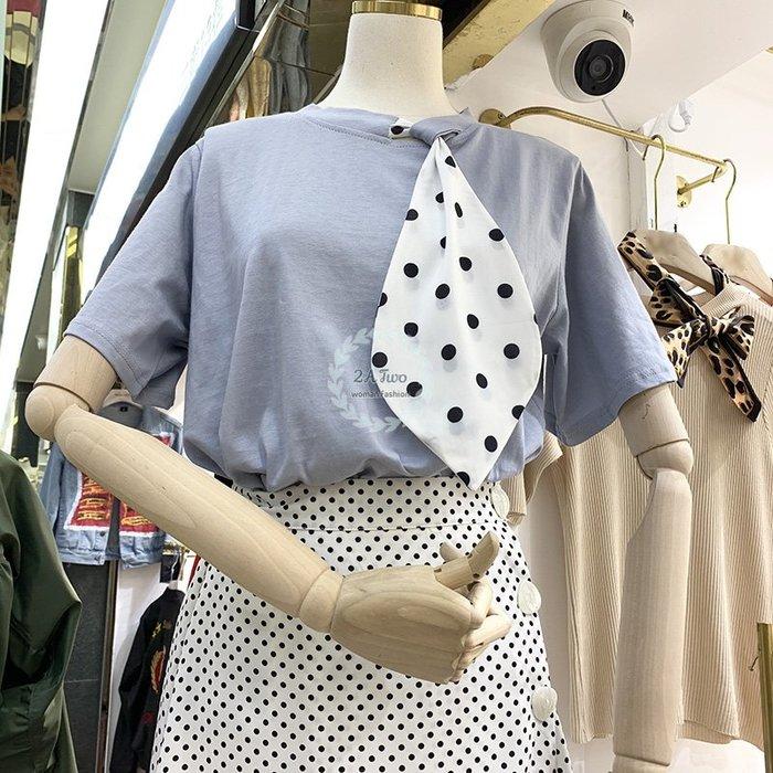 【2A Two】東大門🍪時尚點點⌒寬鬆短袖T恤 遮肉顯瘦『BA0431』