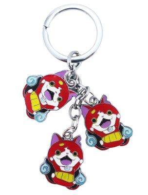 【卡漫迷】 吉胖喵 鑰匙圈 串飾 妖怪手錶 吊飾 扣環 掛飾 yokai 吉胖貓
