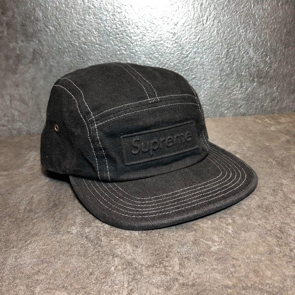 【Faithful】Supreme BOSSED STONE WASHED CAMP CAP 【SUP_HAT090】黑