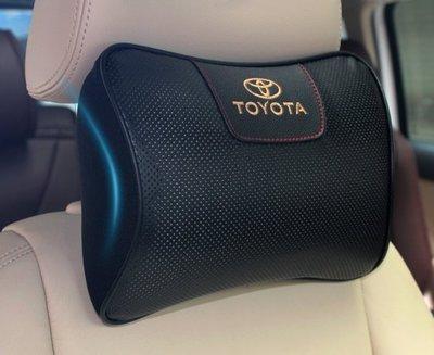 現貨!豐田 TOYOTA C-HR WISH ALTIS CAMRY VIOS頭枕 真皮汽車記憶棉車用靠枕護頸枕WLBH9090