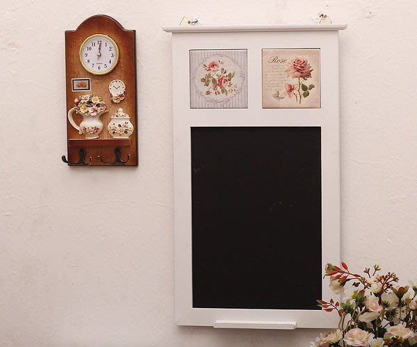 粉紅玫瑰精品屋~家居裝飾擺件 韓式玫瑰瓷磚黑板~現貨