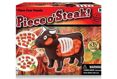 全新 🔥 現貨 🔥 MegaHouse 3D 牛牛 Cow Puzzle ~ 37 Pieces o'Steak