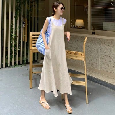 特價799💕棉麻寬鬆舒適長版連身裙