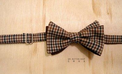 【巴特先生】經典小格紋手打領結_雅痞_英倫_義大利_Hand Tie_handmade_Bow Tie_訂製商品