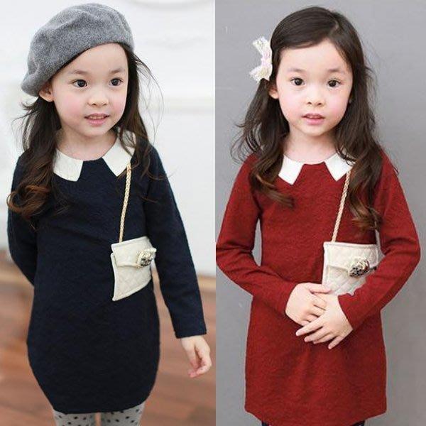 韓版《時尚小包款》裙式~長袖上衣 洋裝 (J4-5)
