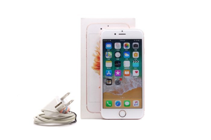 【台中青蘋果競標】Apple iPhone 6S 玫瑰金 64G 4.7吋 蘋果手機 故障料機出售 #22572