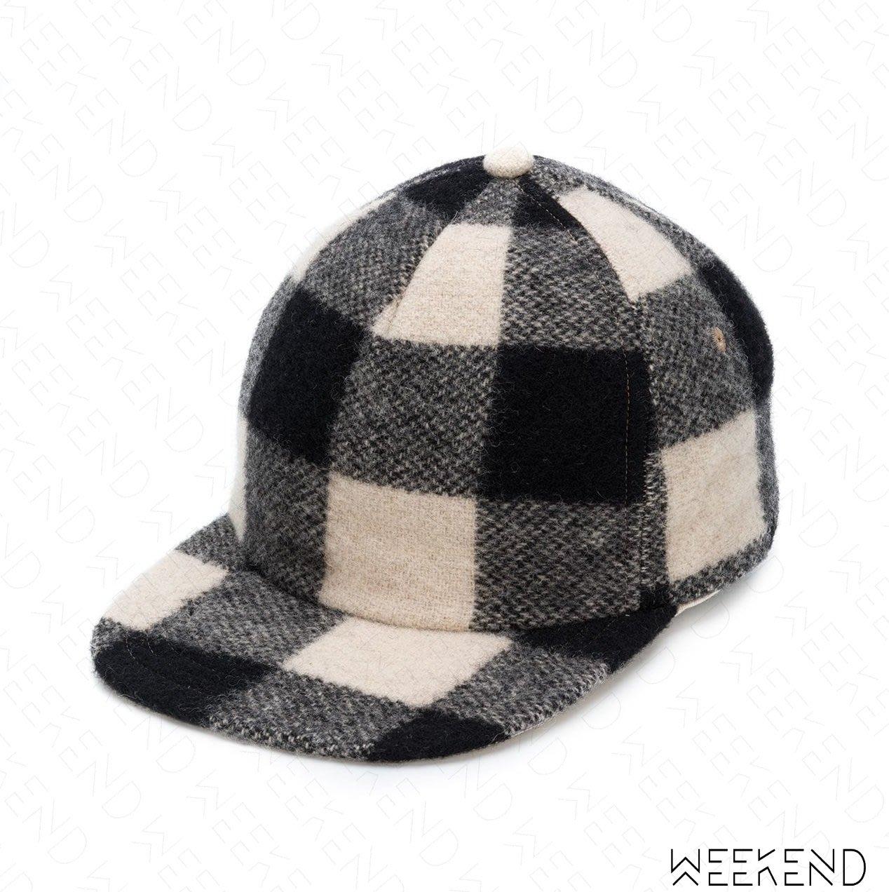 【WEEKEND】R13 Checked 格紋 羊毛 帽子 棒球帽 潮帽 黑+白色 18秋冬