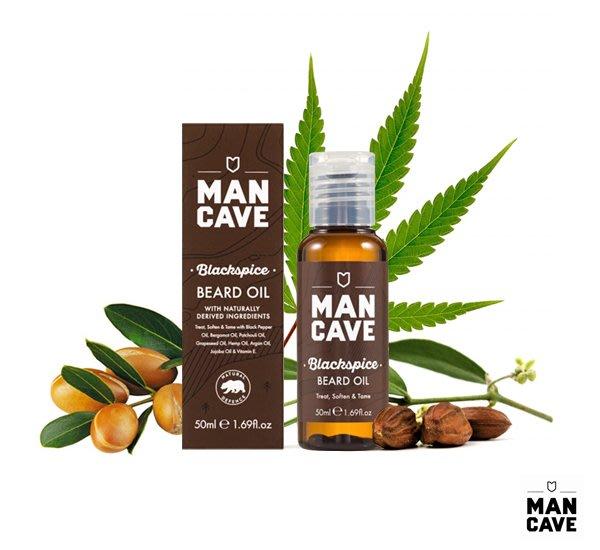 GOODFORIT / 英國 Man Cave BlackSpice Beard Oil鬍鬢保養油/50ml