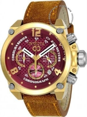 展示品 Invicta 24310 50mm Corduba Brink Quartz Chronograph Leather Strap Men's