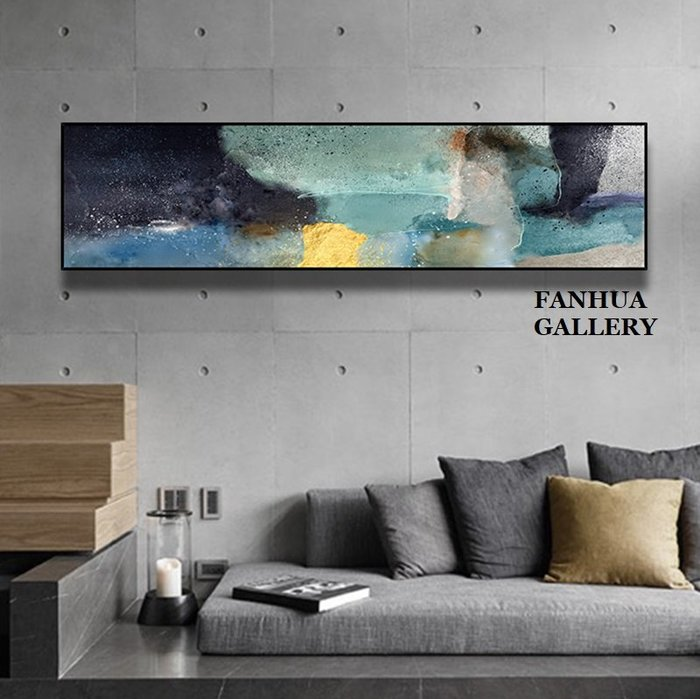 C - R - A - Z - Y - T - O - W - N 簡約抽象時尚橫款裝飾畫現代簡約客廳沙發背景橫幅掛畫