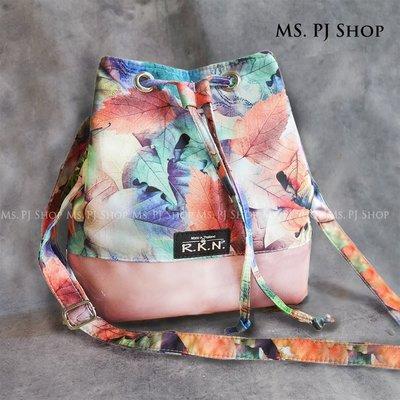 泰國連線 正品RKN包  秋葉水桶包 斜背包 防水包 肩背 原創 設計師品牌~* Ms.PJ Shop *
