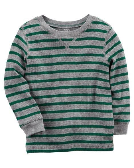 *Elaine小舖逛街趣*美國Carter's  正品 綠灰條紋百搭 T恤 5T 清倉