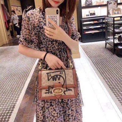 ╭☆包媽子店☆Coach REXY BY CUANG YU 經典帆布標誌RILEY 手提斜挎包74582