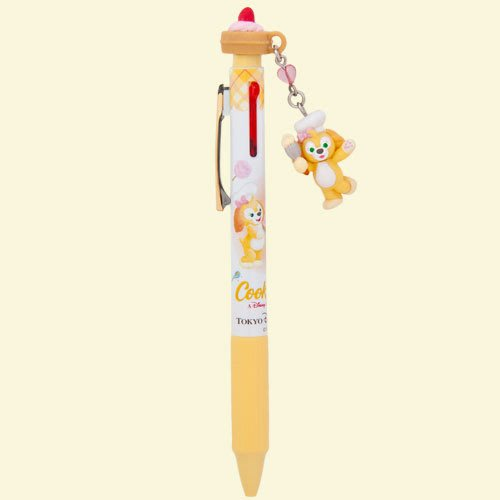 Miss莎卡娜代購【東京海洋迪士尼】﹝預購﹞達菲熊好朋友 CookieAnn 曲奇狗 鬆餅筆頭 公仔吊飾 三色原子筆