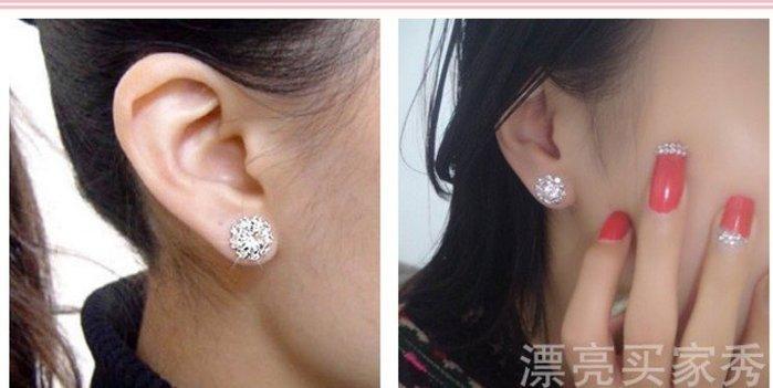 韓國太陽花鑽石氣質耳釘無耳洞耳夾小巧可愛耳環時尚耳飾 耳環 105