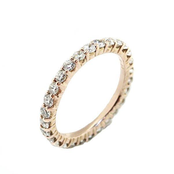 【JHT 金宏總珠寶/GIA鑽石專賣】0.85ct天然鑽石線戒/材質:18K(JB42-A08)