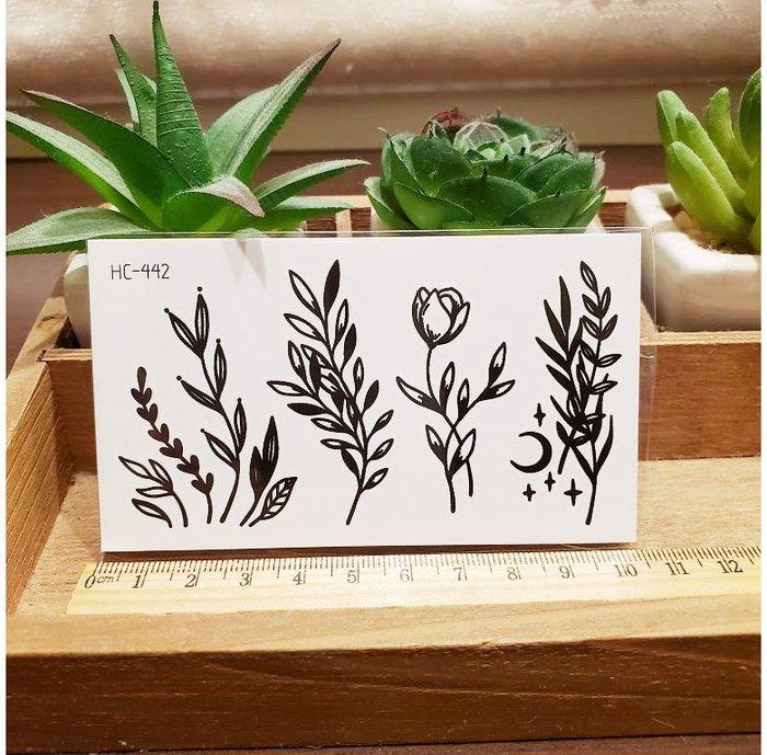 【萌古屋】黑色小圖騰 - 男女防水紋身貼紙刺青貼紙HC-442