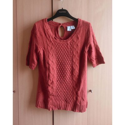 H M copper red fashion knit blouse top shop french connection 外國靚磚紅色針織襯衫