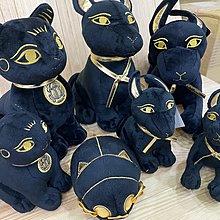 日本空運?? 大英博物館紀念品 埃及神話貓女神 貓神 芭絲特 布偶 娃娃 bastet the cat  (大)