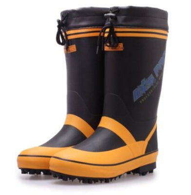 外貿新款秋冬男款高筒釘子底雨靴 雨鞋水鞋套鞋橡膠鞋 釣魚鞋