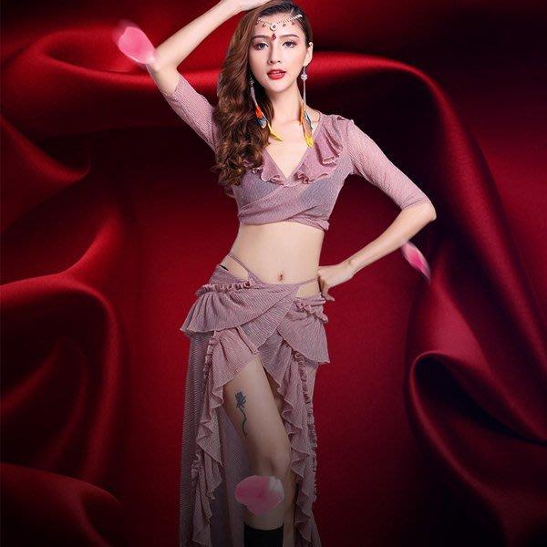 5Cgo【鴿樓】會員有優惠 558220782955  肚皮舞練功服新款服裝套裝女成人網紗長裙子表演出服