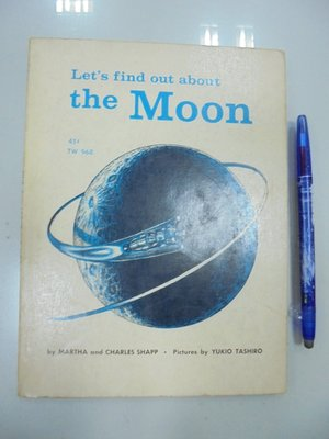 D3-3cd☆1965年『Let's find out about the Moon』SHAPP《SCHOLASTIC》