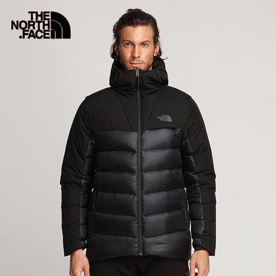 【The North Face】《賣到缺貨》 北面/北臉黑色保暖防潑水羽絨外套 800鵝絨 - 3KTDKX7