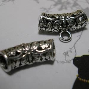 琥珀貓~【925純銀材料配件】彎管帶圈~N9758~蝴蝶~一個