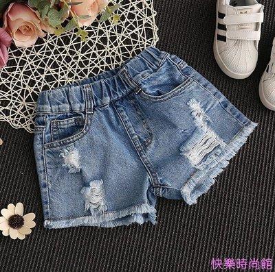 女童牛仔短褲破洞夏季5女孩6時尚8童裝9中大童10韓版12歲薄款熱褲
