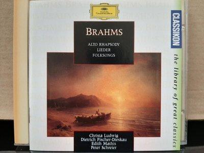 Brahms:Alto Rhapsody,Lieder,Folksongs,布拉姆斯:女低音狂想曲,德國藝術歌曲與民謠,露德薇希/費雪迪斯考。